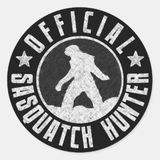 Best Version - OFFICIAL Sasquatch Hunter Design Classic Round Sticker