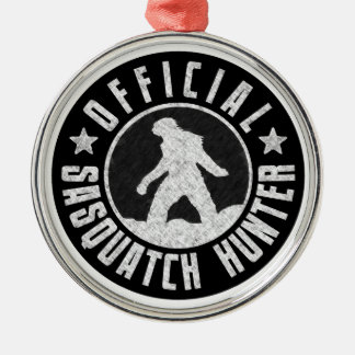 Best Version - OFFICIAL Sasquatch Hunter Design Round Metal Christmas Ornament