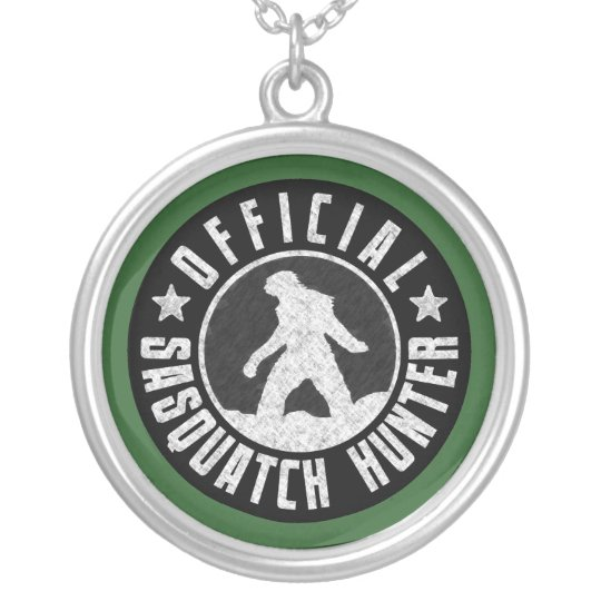Best Version - OFFICIAL Sasquatch Hunter Design Silver Plated Necklace