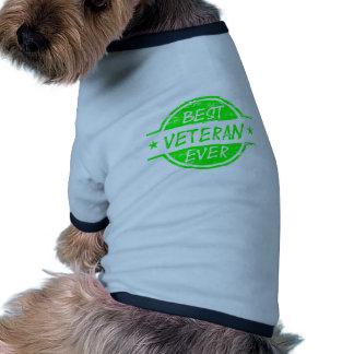 Best Veteran Ever Green Pet T-shirt