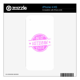 Best Veteran Ever Pink Skins For iPhone 4