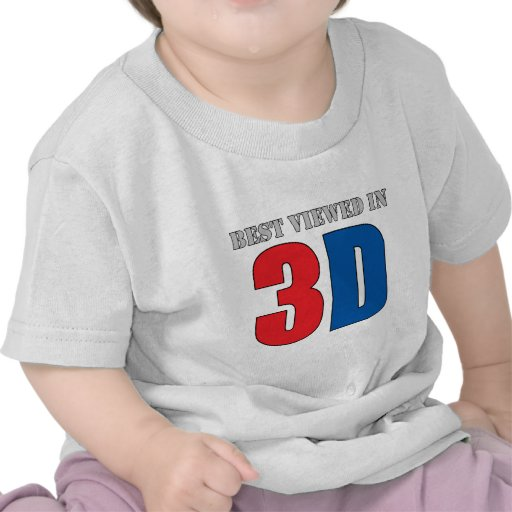 Best Viewed In 3D Tee Shirts