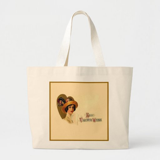 Best Vintage Valentine Wishes Tote Bag
