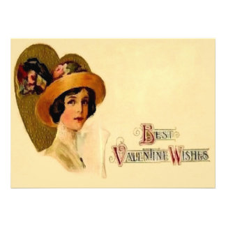 Best Vintage Valentine Wishes Custom Invite