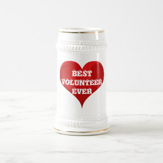 Best Volunteer Ever Red Heart Love Stein Mug