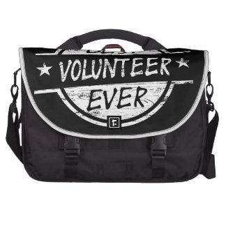 Best Volunteer Ever White Laptop Bag