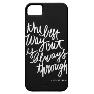 Best Way Out iPhone Case | black and white quote