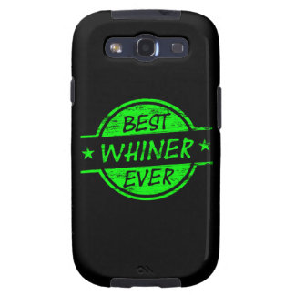 Best Whiner Ever Green Galaxy SIII Cover