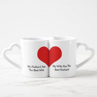 Best Wife Best Husband Humor Love Heart Coffee Mug Set