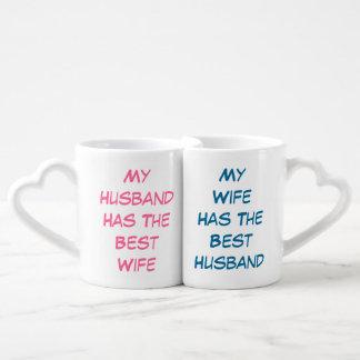 Best Wife Best Husband Humor Love Heart Couples' Coffee Mug Set