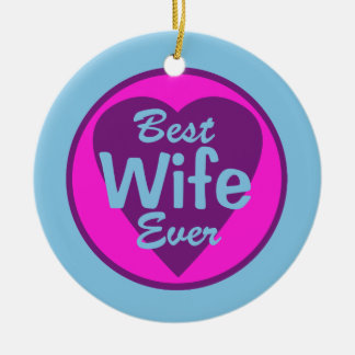 Best Wife Ever Personalized Ornament