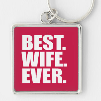 Best. Wife. Ever. (pink) Keychain