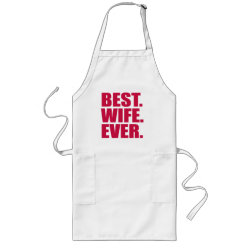 Long Apron with Best. Wife. Ever. (pink) design