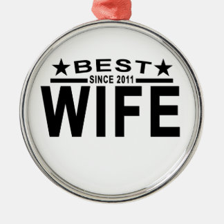 Best WIFE Since 2011 Tshirt '.png Metal Ornament