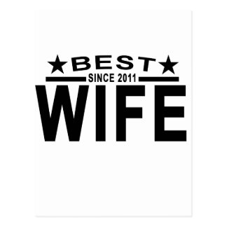 Best WIFE Since 2011 Tshirt '.png Postcard