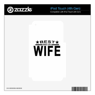 Best WIFE Since 2013 Tshirt '.png Skin For iPod Touch 4G