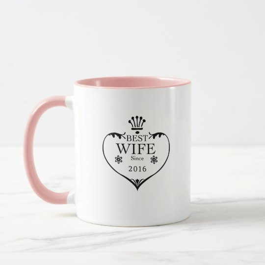 Best First Wedding Anniversary Gift For Wife: Best Wife Since 2016 1st Wedding Anniversary Gifts Mug