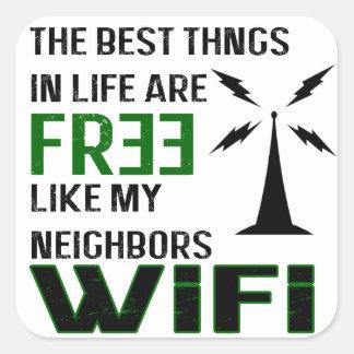 Best WiFi is Free Square Sticker