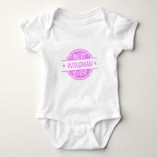 Best Wingman Ever Pink Baby Bodysuit