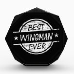 """Best Wingman Ever White Acrylic Award<br><div class=""""desc"""">Best wingman ever products! Best Wingman Ever shirts, hoodies, mugs, bags, hats, aprons, water bottles, clocks, phone case, awards, ties, ornaments and more! Design is available in 10 different colors. Perfect thank you gift or appreciation gift. Great anytime gift for the best wingman ever to let them know how much...</div>"""