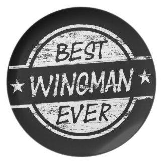 Best Wingman Ever White Dinner Plate