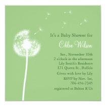 Best Wishes! Baby Shower invitation (green)