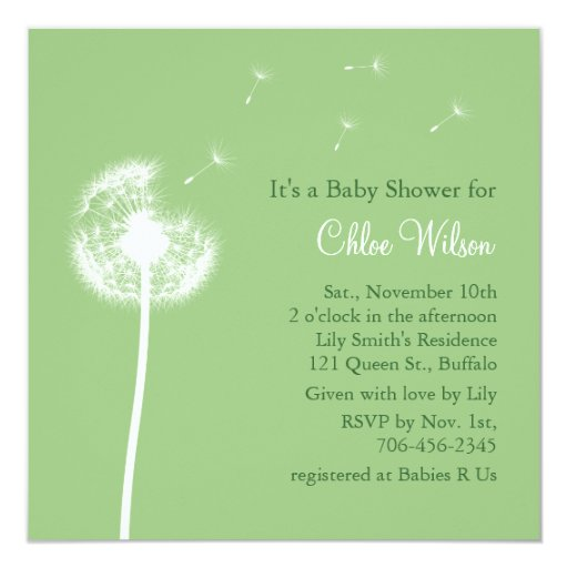 best wishes baby shower invitation green zazzle