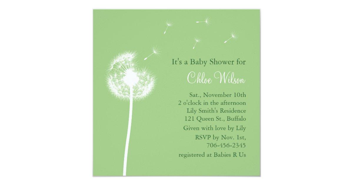 Best Wishes Baby Shower Invitation Green Zazzle Com