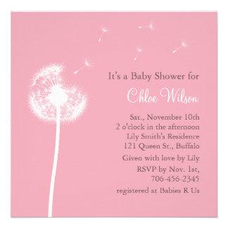 Best Wishes Baby Shower Invitation pink