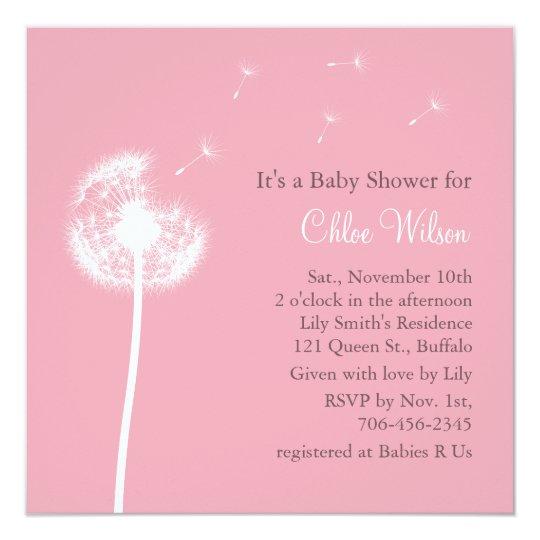 Best Wishes Baby Shower Invitation Pink Zazzle