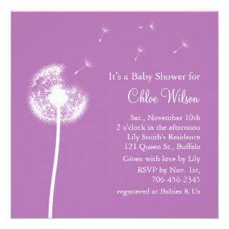 Best Wishes Baby Shower invitation purple