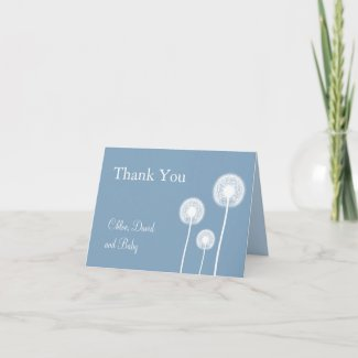Best Wishes! Baby Shower Thank You Card (blue) card