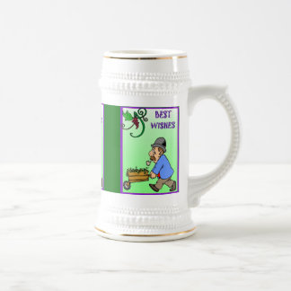 Best wishes, barrow full of grapes beer stein