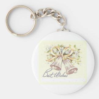 Best Wishes Basic Round Button Keychain