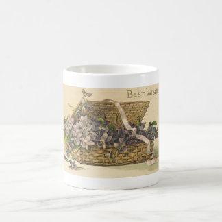 Best Wishes Basket of Flowers Coffee Mug