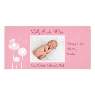 Best Wishes !!! Birth Announcement 2 (pink)