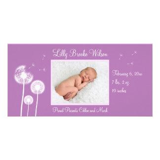 Best Wishes !!! Birth Announcement 2 (purple)
