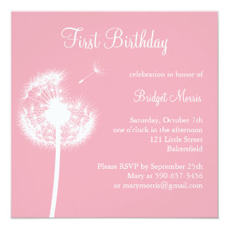 Best Wishes! Birthday Party (pink) Card