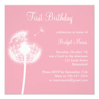 Best Wishes Birthday Party pink Invitations