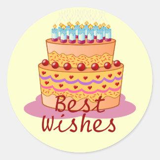 Best Wishes Birthday Sticker
