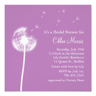 Best Wishes! Bridal Shower Invitation (purple)