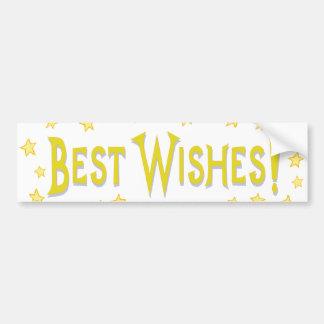 Best Wishes Car Bumper Sticker