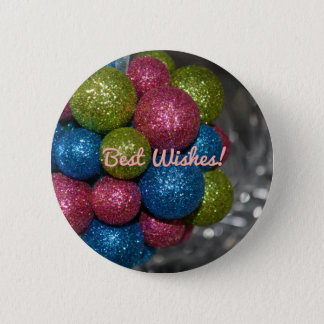 Best Wishes Christmas Decorations Button