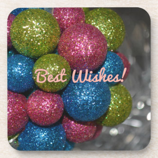 Best Wishes Christmas Decorations Coaster