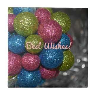 Best Wishes Christmas Decorations Tile