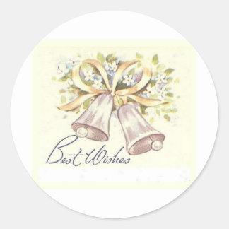 Best Wishes Classic Round Sticker