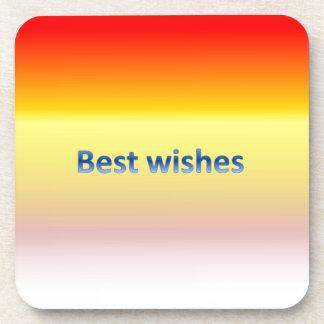 best wishes drink coaster