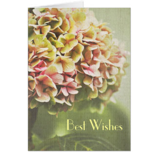 Best Wishes Engagment Hydrangea Card
