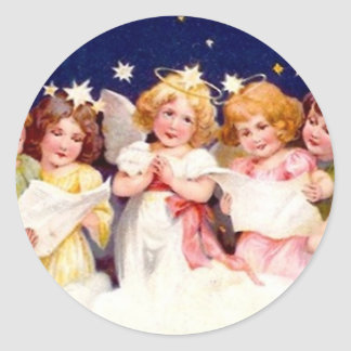 Best Wishes for a Merry Christmas Classic Round Sticker