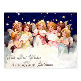 Best Wishes for a Merry Christmas Postcard